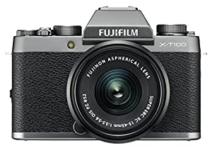 Fujifilm X-T100 w/XC15-45mm Lens Kit Dark Silver Mirrorless Digital Camera with 3.0