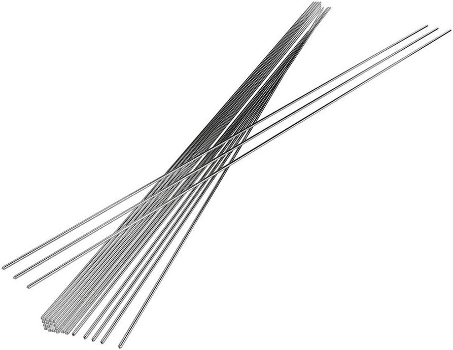 Varillas De Soldadura De Aluminio TIG Varillas De Soldadura De Baja Temperatura Varillas De Soldadura Con Núcleo De Fundente Al Electrodos De Relleno (2mm-50pcs)