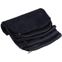 Sumind 5 Pack Aquarium Filter Bags, Mesh Fish Tank Media Bag for Bio Balls, Pelletized Carbon, Ammonia Remover and Ceramic Rings, Black