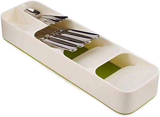 L-coder Cubiertos de plástico Caja de Almacenamiento, Cuchillo Y Tenedor Caja de Almacenamiento, Domésticos de Cocina Acabado Caja del cajón, la Fuga de la Caja de Palillos (Color : B): Amazon.es: Hogar