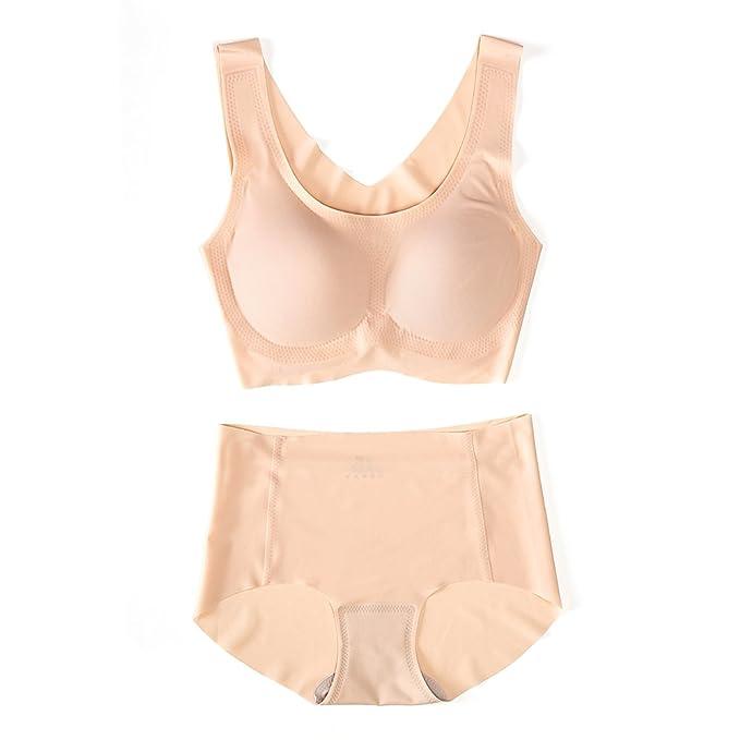 Amazon.com: shanghui Mujer brasier Sin Costuras Set Cómodo ...
