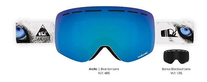 b8a31bb8aec Amazon.com   SANDBOX The Kingpin - Arctic - Blue Ion (Bonus Blackout Lens)    Sports   Outdoors