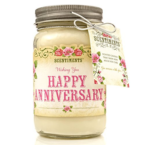 Scentiments Candle Cinnamon Scented Fragrance - Anniversary Candle