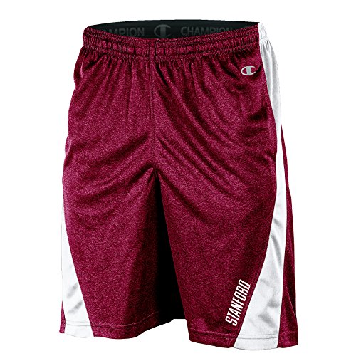 NCAA Stanford Cardinal Adult Men Training Short with Contr, XX-Large, Black Heather (Stanford Mens Shorts)