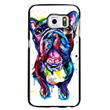 Fashion Bright Colorful Painted French Bulldog Phone Case Cover for Samsung Galaxy S7 Edge Pet Dog Unique Shell dsda11435
