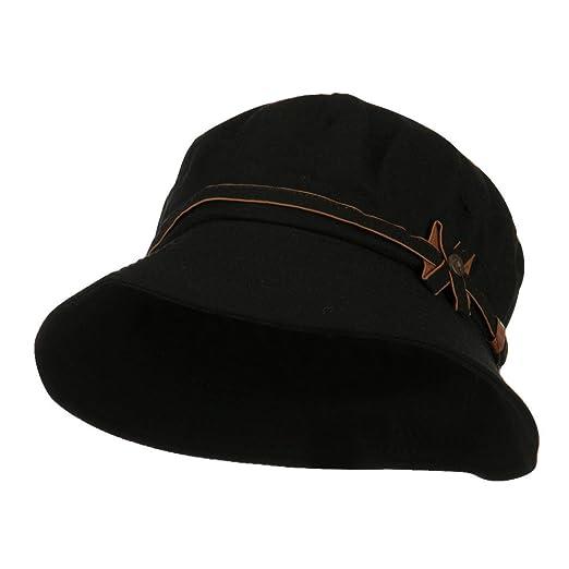 28cc0c2af0b74 Women s Cotton Bucket Shaped Hat - Black OSFM at Amazon Women s ...