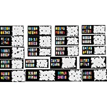 ABESTAIR Reuseable Airbrush Nail Art Stencil 400 DESIGNS - 20 Template Sheets Kit Set 10 by ABESTAIR