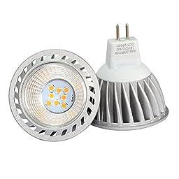 SHINE HAI MR16 LED Bulbs, 6W, GU5.3, 12V, 100% Aluminum Reflector, 50W Equivalent, 500lm, Warm White 2700K, 40 Degree Beam Angle, 6-Pack