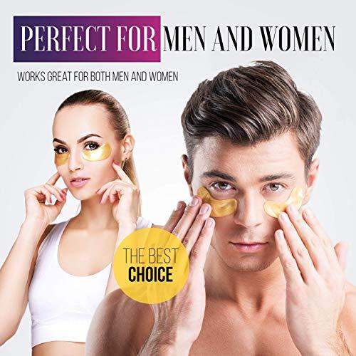 514dMV%2BgqAL - Under Eye Patches - 24K Gold Under Eye Mask Anti-Aging Hyaluronic Acid Collagen Under Eye Pads Reducing Dark Circles & Wrinkles Treatment Gel Bags