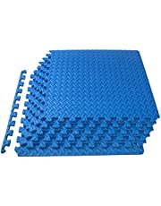 """ProSource Puzzle Exercise Mat 13 mm (½""""), EVA Foam Interlocking Tiles Protective Flooring for Gym Equipment and Cushion for Workouts (3 Colors Available)"""