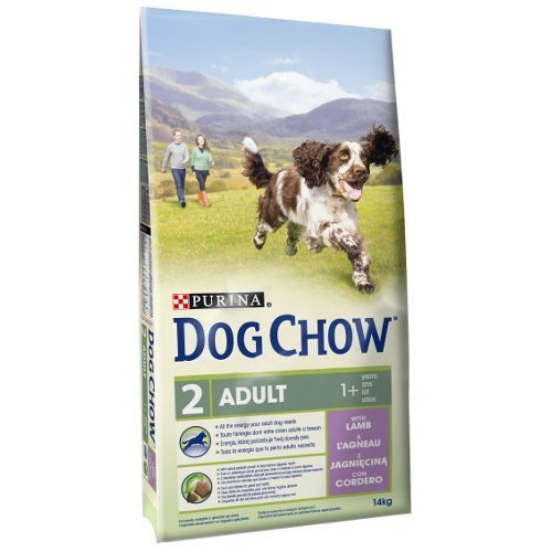 Saco de pienso 14 KG comida para perros adultos DOG CHOW con cordero