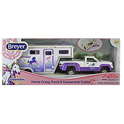 Breyer Stablemates Horse Crazy Truck and Trailer Vehicle: Breyer Stablemates: Toys & Games