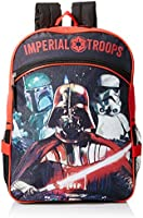 "Star Wars Boys'  16"" Backpack with Lunch Bag"