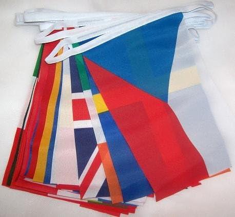 AZ FLAG Guirnalda 6 Metros 28 Banderas de los 28 Paises DE LA Union Europea 15x10cm - Bandera EUROPEANA – UU.EE - Europa 10 x 15 cm - banderines: Amazon.es: Hogar