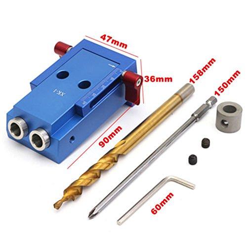 Baoblaze Mini Pocket Slant Hole Jig Kit +Step Drilling Drill Bit Tool WoodWork Tool by Baoblaze (Image #5)