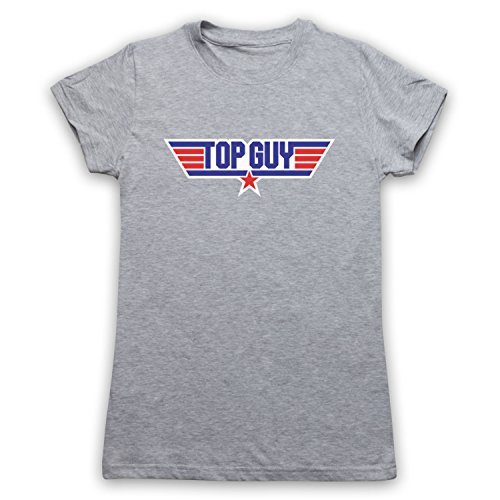 Top Guy Parody Logo Camiseta para Mujer Gris Claro