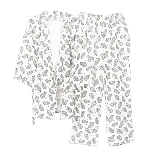 Meditación Kimono Traje Pijamas Hombres Para Fancy Pumpkin White314 Estilo De Japonés 5wtHxX1q