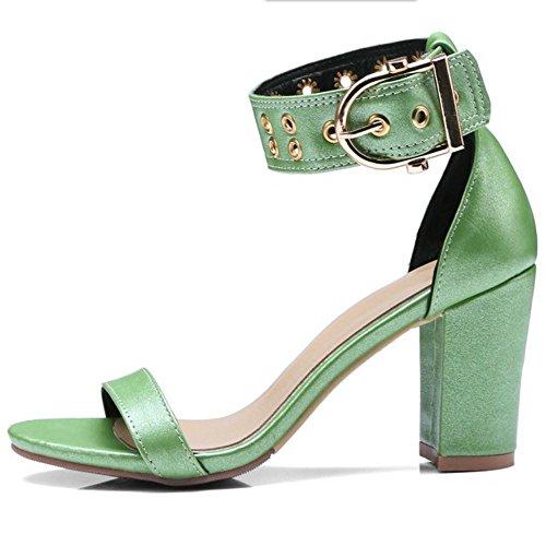 Sandales TAOFFEN Bout Ouvert Femmes 2 Classique Green xFpp8q