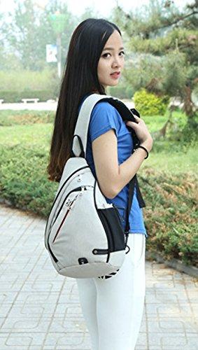 FreeMaster - Mochila cruzada para el hombro, tamaño pequeño, color gris, tamaño 18.7H x 11.8W x 5.1T inch (47 x 30 x 13cm), volumen liters 19 White