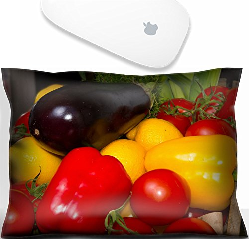 Aub Natural - Luxlady Mouse Wrist Rest Office Decor Wrist Supporter Pillow Natural Rubber Mousepad. IMAGE: 21566862 paprika tomatoes aubergines