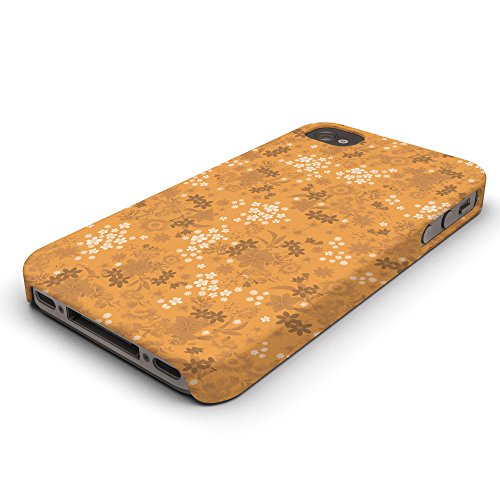 Koveru Back Cover Case for Apple iPhone 4/4S - Orange Printed Pattern
