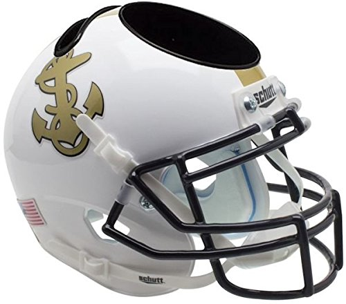 Schutt NCAA Navy Unisex NCAA Navy Midshipmen Football Helmet Desk Caddyncaa Navy Midshipmen Football Helmet Desk Caddy, White Alt, N