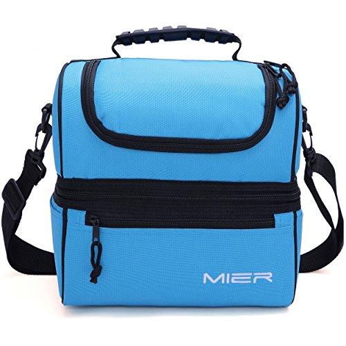 mier adult lunch box blue insulated lunch bag large cooler. Black Bedroom Furniture Sets. Home Design Ideas