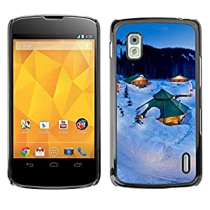 Hot Style Cell Phone PC Hard Case Cover // M00103042 winter photos // LG Nexus 4