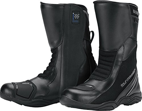 (Tour Master Solution WP Air Road Men's Leather Street Motorcycle Boots - Black/Size 11 )