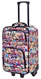 Jetstream Travel Carry On Suitcase On Wheels With Extendable Handle (Vintage)