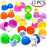 Toys : 12 Pieces Mochi Squishy Prefilled Easter Eggs (Toys Inside); Kawaii Foamy Stress Reliever Squishies for Easter Theme Party Favor, Easter Eggs Hunt, Basket Filler, Classroom Prize Supplies by Joyin Toy