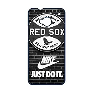 jany store123 store Custom MLB Boston Red Sox logo with nike logo black plastic Case for HTC ONE M7 cover