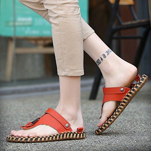 Corea Zapatillas Sandalias Hombre Orange Zapatillas Color Verano Playa De Ocio sandals Nuevas pwqBzz