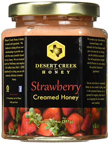 - Desert Creek Honey Strawberry Creamed Honey, 14 oz.