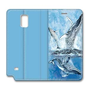 Find 11 Whale Tails Samsung Galaxy Note 4 Smart Leather Cover