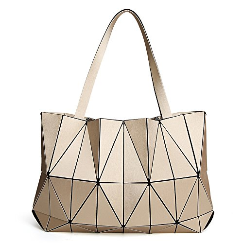 (JVPS11-G) Bolso bandolera de cuero de la PU de las mujeres con bolsas de hombro populares de 3 maneras para mujeres Bolso bandolera de peso pesado de mujeres populares con anillos de luz Oro