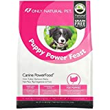 Only Natural Pet Dry Dog Food Puppy Power Feast Canine PowerFood - Grain Free, Naturally Paleo Friendly Formula - Turkey & Chicken Blend - 4.5 lb Bag