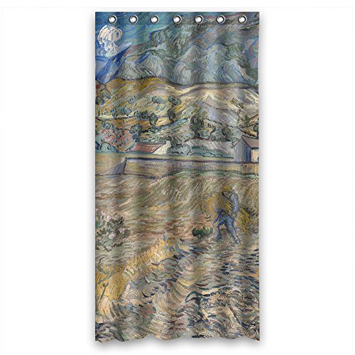 SUNSMILES The Art Painting Vincent Willem Van Gogh Landscape At Saint - RÃmy 1889 Bathroom Curtains Of Polyester Width X Height / 36 X 72 Inches / W H 90 By 180 Cm Decoration Gift For L]()