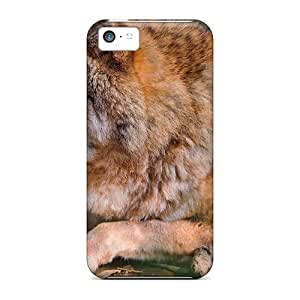 Durable Defender Case For Iphone 5c Tpu Cover(the Beauty Of Wolves)