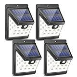 Urlitoy Solar Lights Outdoor 22 LED Wide Angle Illumination Motion Sensor Waterproof Wall Light Wireless Security Night Light for Outdoor Wall,Back Yard,Fence,Garage,Garden,Driveway(4 Packs)