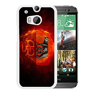 Fashionable Custom Designed Skin Case For HTC ONE M8 With As roma White Phone Case 2