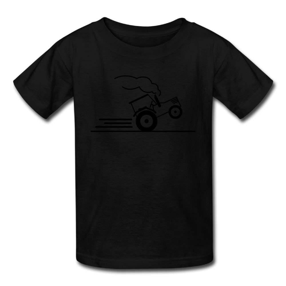 Moniery Cute Short Sleeve Shirts Sprinting Tractor Birthday Day Baby Boy Infant