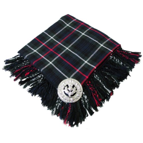 Scottish Fly Plaid With Brooch Mackenzie (Clan Mackenzie Tartan)