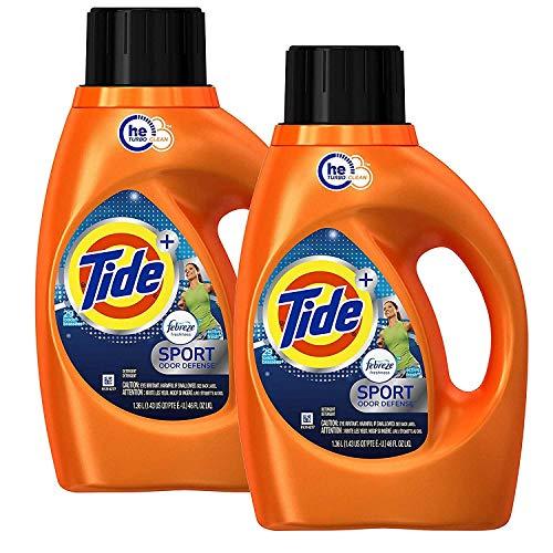 Tide Total Care - Tide Plus Febreze Fresh Sport Odor Defense Liquid Laundry Detergent, Active Fresh Scent - 1.36 L / 46 Fl.Oz, 29 Loads Each - 2 Packs
