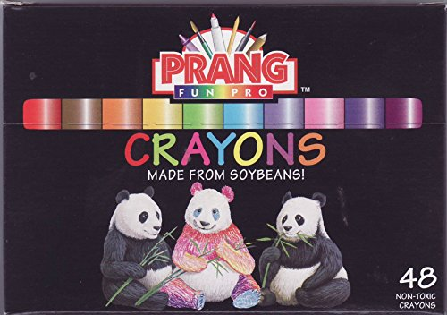 Prang Crayons, Standard Size, Box of 48 Crayons, Assorted Colors (00154)