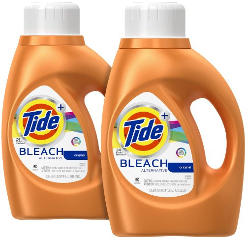 Tide Plus Bleach Alternative Liquid Laundry Detergent - 46 oz - Original - 2 pk - Bleach Liquid Laundry Detergent