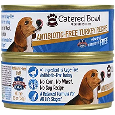 Catered Bowl Antibiotic-Free Turkey Pet Food for Dog, 5.5 oz, Case of 24