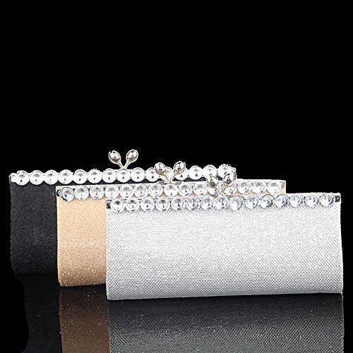 de Negro Cartera mano multicolor evening clutch para mujer UNYU Bgxaq