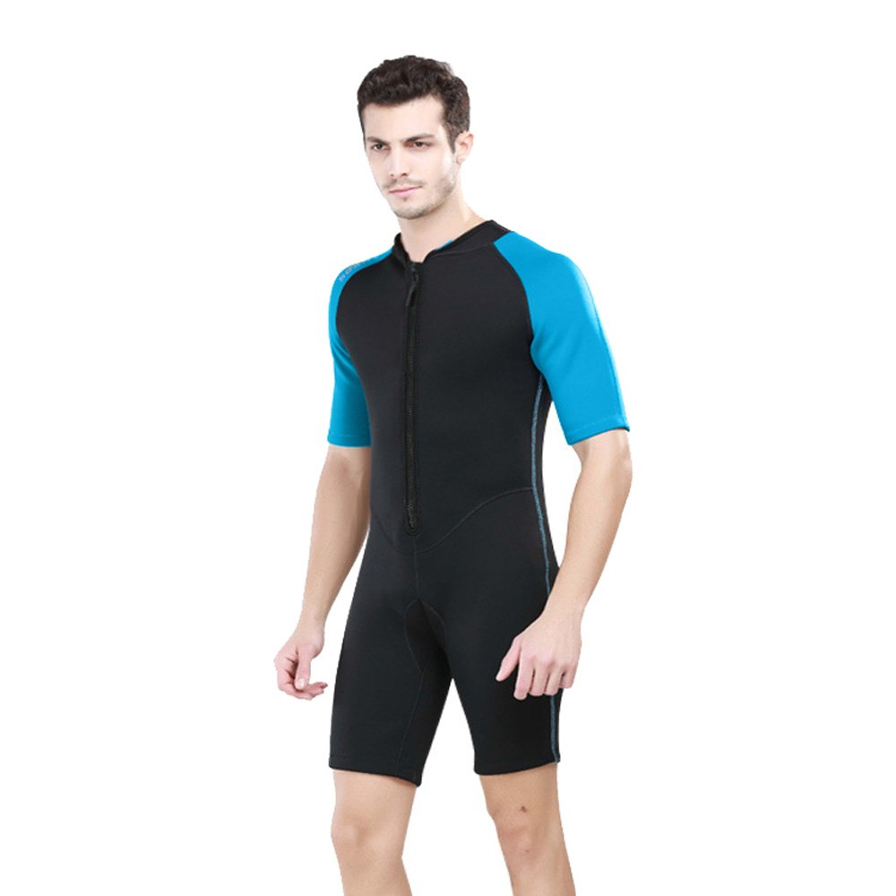 Unisex 2MM Neoprene Wetsuit Short One Piece Swimming Free Scuba Diving Surfing Wetsuit Lucky1992