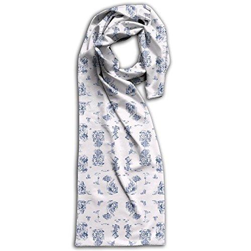 AliceToile-white Background Wallpaper - Avelis - Spoonflower(3) Winter Scarves Lightweight Warm Towel Stylish Shawl Scarf - Men Burberry Hat